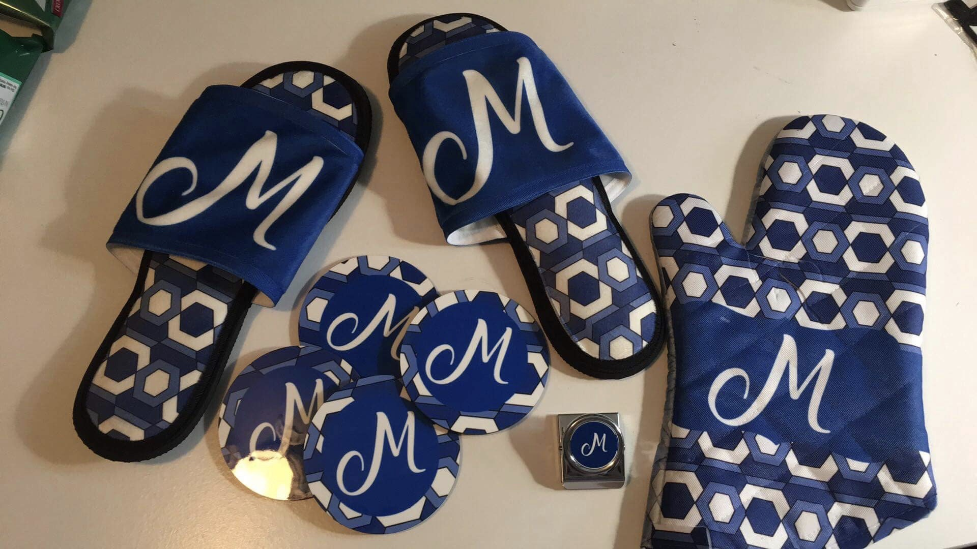 Custom Slippers, Magnets, Coasters, Ovenmit